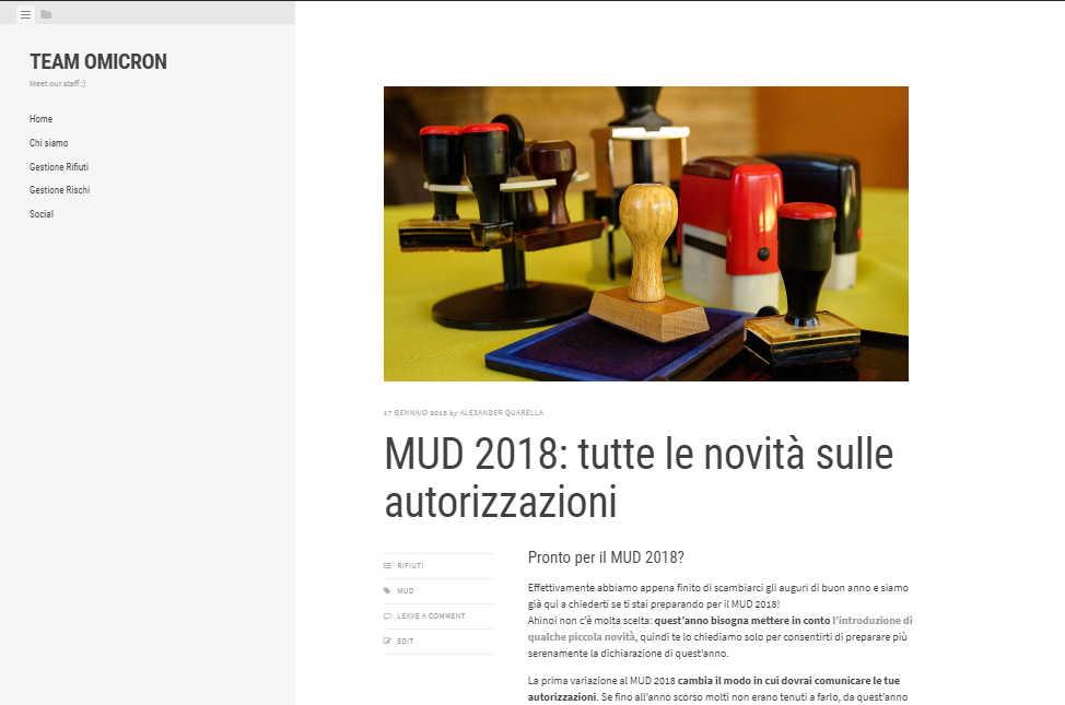 Anteprima Team Omicron MUD 2018