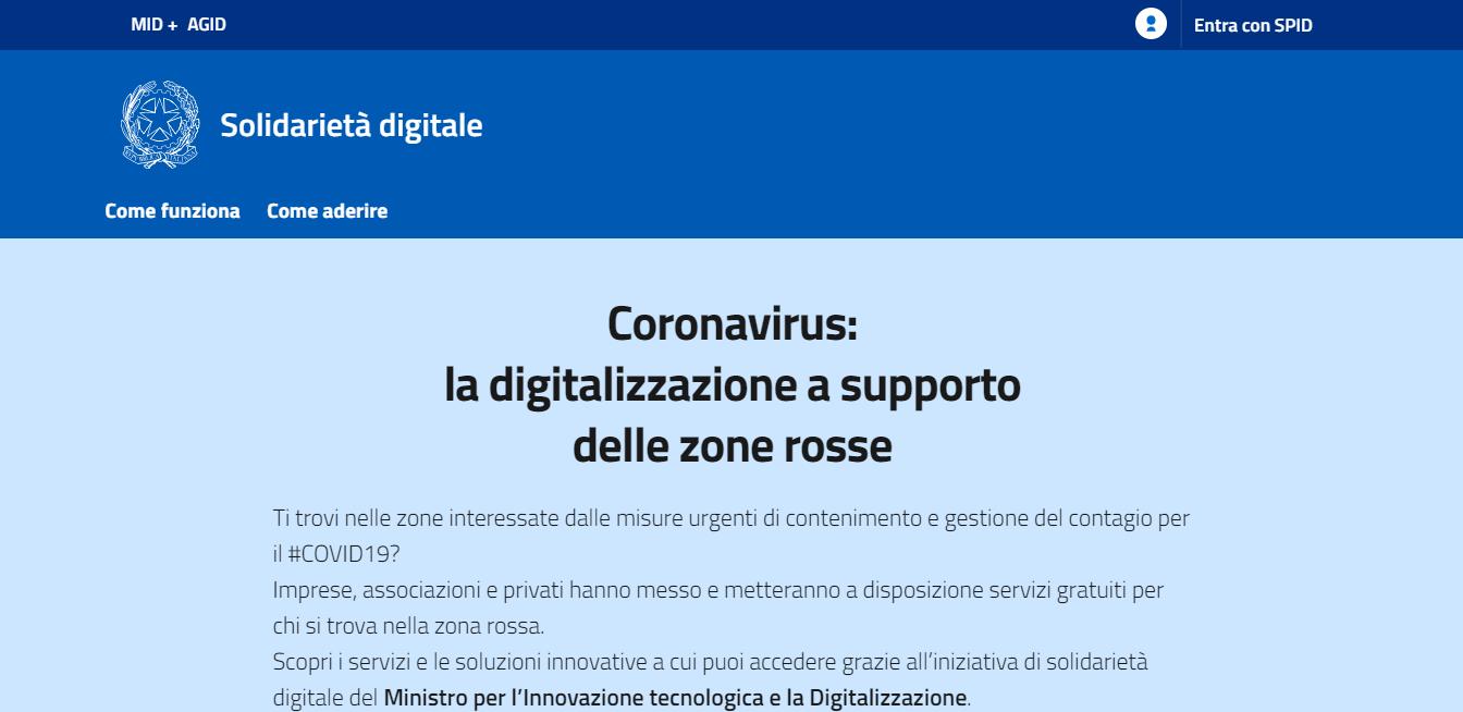 Coronavirus ecco tutti i servizi digitali gratuiti